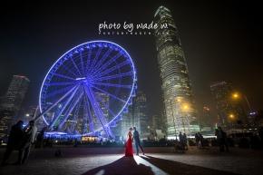 Pre-wedding Hong Kong Photo by Wade w. 中環 摩天輪 自助婚紗 香港