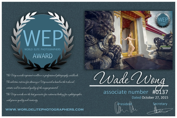 WEP award Photo by Wade W Bangkok Thailand pre-wedding