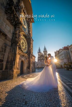 1200 Prague pre-wedding europe 老英格蘭 威尼斯 photo by wade w 天文鐘 布拉格