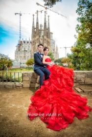 Barcelona 巴塞羅納 巴塞隆拿 photo by wade w overseas pre-wedding 老英格蘭莊園 巴黎 la Sagrada Familia Barcelona Spain 2048- 11