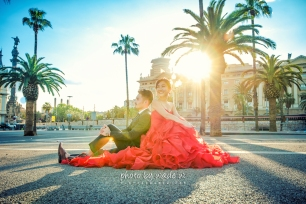 Barcelona 巴塞羅納 巴塞隆拿 photo by wade w overseas pre-wedding 老英格蘭莊園 巴黎 la Sagrada Familia Barcelona Spain 2048- 30