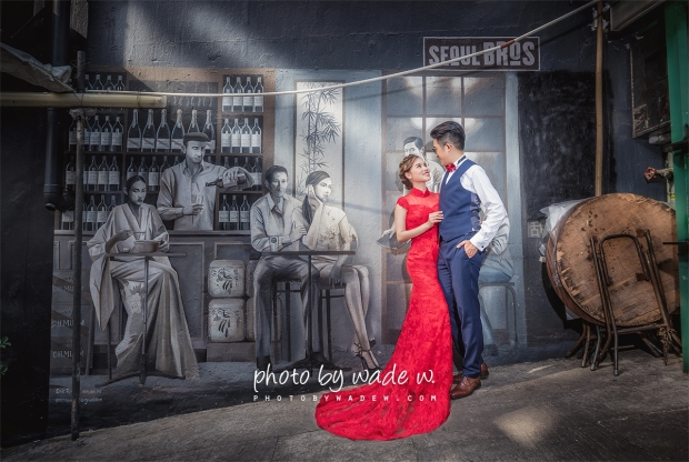 1200 Photo by wade w destination pre-wedding hong kong top 10 central graffiti vintage gown evening dress overseas