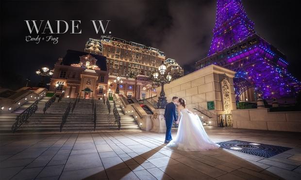 1 1200 Macau pre-wedding 巴黎人 澳門 光影 wade destination wedding 夜景